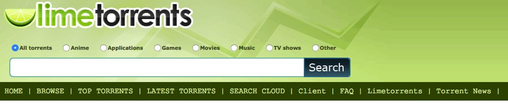 YIFY Torrent Site Alternative 3- Limetorrents.cc