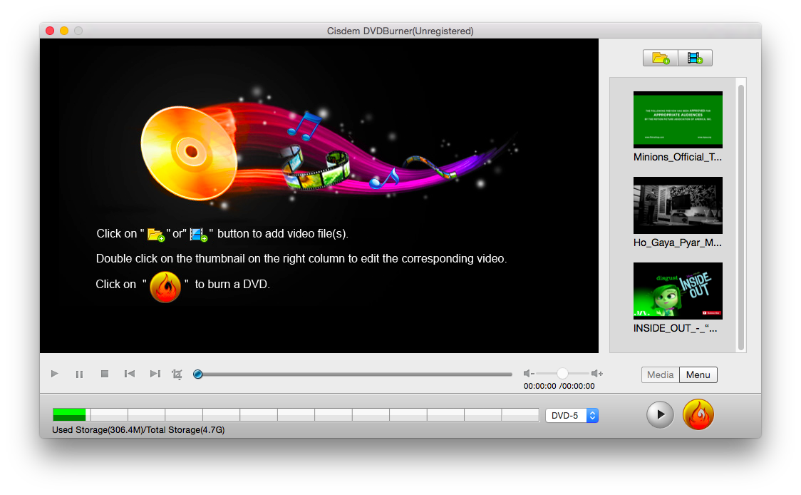 Burn YouTube Video to DVD on Mac Step One