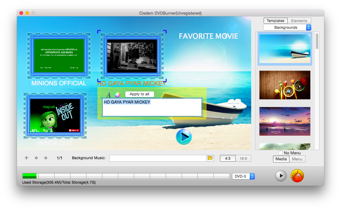 How to Burn MP4 to DVD on Mac with DVD Burner 4
