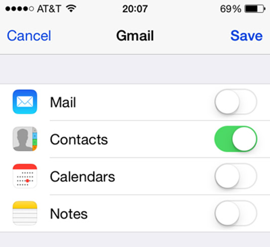 Solve Google Contacts Won't Sync with iPhone Step 4