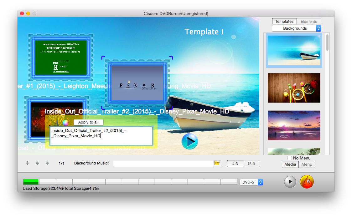 How to Start the Best DVD Authoring Software Mac Step 3