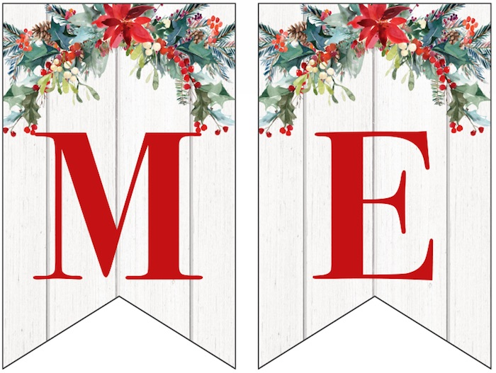 image relating to Printable Merry Christmas Banner titled 100% No cost Xmas Printables for All Xmas-Very similar