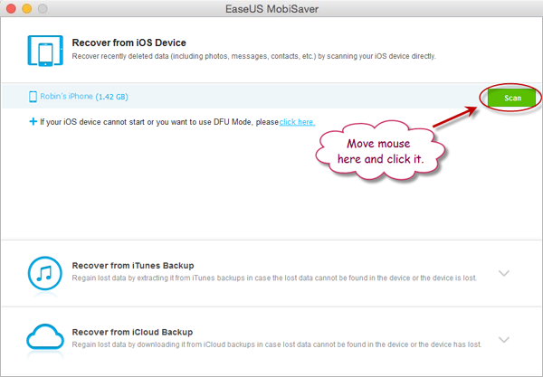 Free iPhone SMS recovery software for Mac without Backup