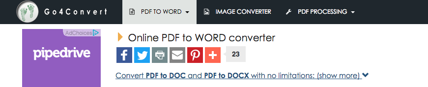 online pdf to word converter-go4convert
