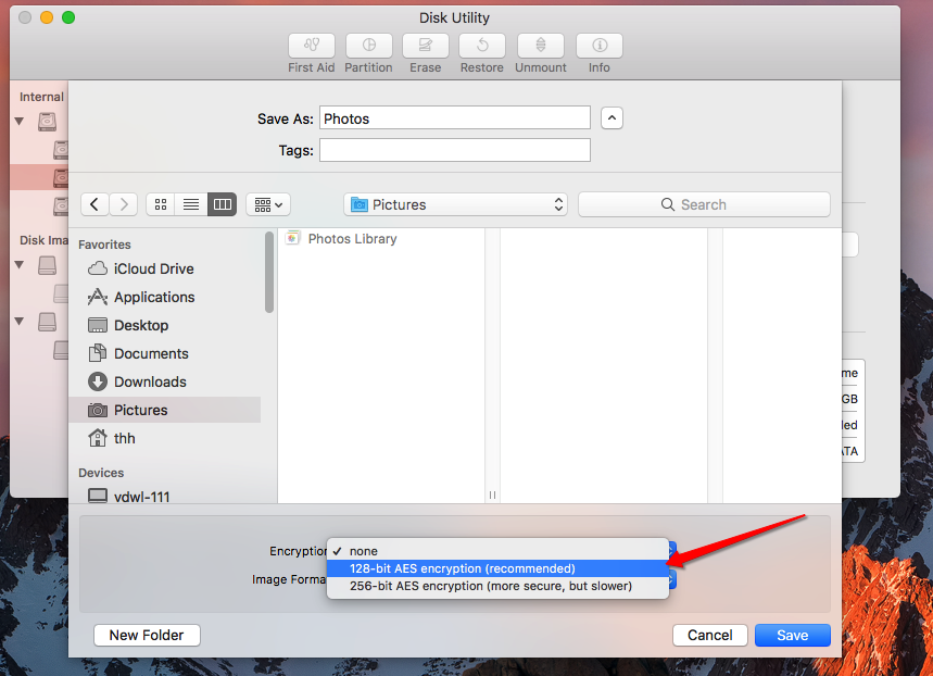 Password Protect Folders on Mac with Disk Utility Step Two