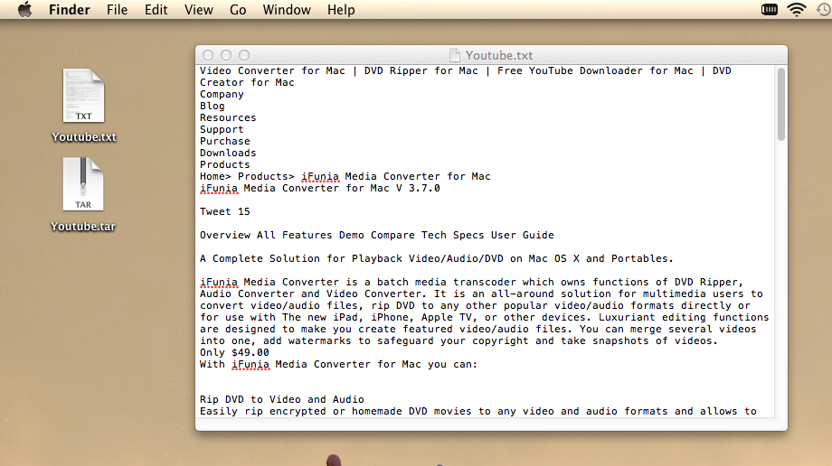 Simple Ways to Create and Open TAR File in OS X