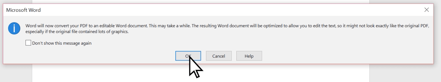 open pdf in word