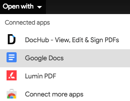 open PDF with Google Docs
