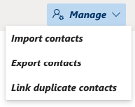 choose Import contacts