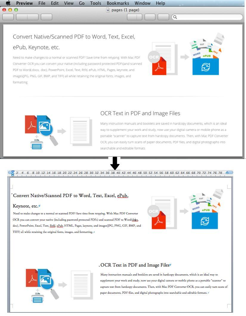 convert scanned pdf with abundant images to word on mac