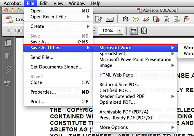 convert pdf to pages with adobe