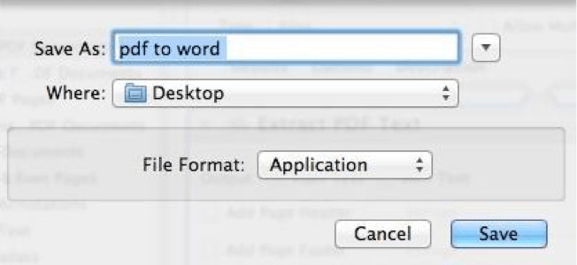 turn pdf to word with mac automator
