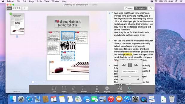 best ocr software mac prizmo
