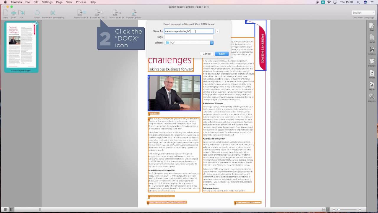 readiris pdf converter