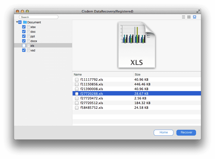 lost excel file mac