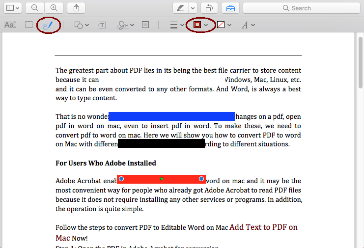 How to Redact PDF on Mac with or without Adobe Acrobat?