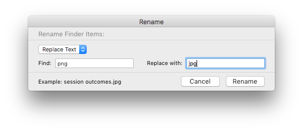 batch convert png to jpg mac by renaming all