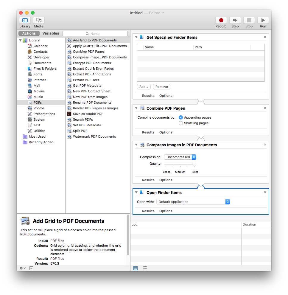 resize a pdf on mac with automator for free
