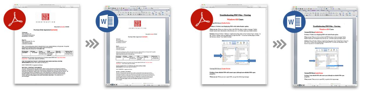 pdf to word results