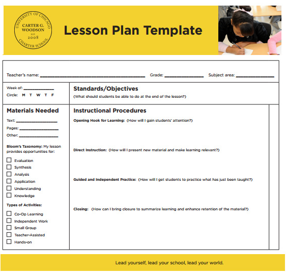 sampletempates lesson plan template