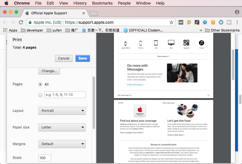pdf from web page mac