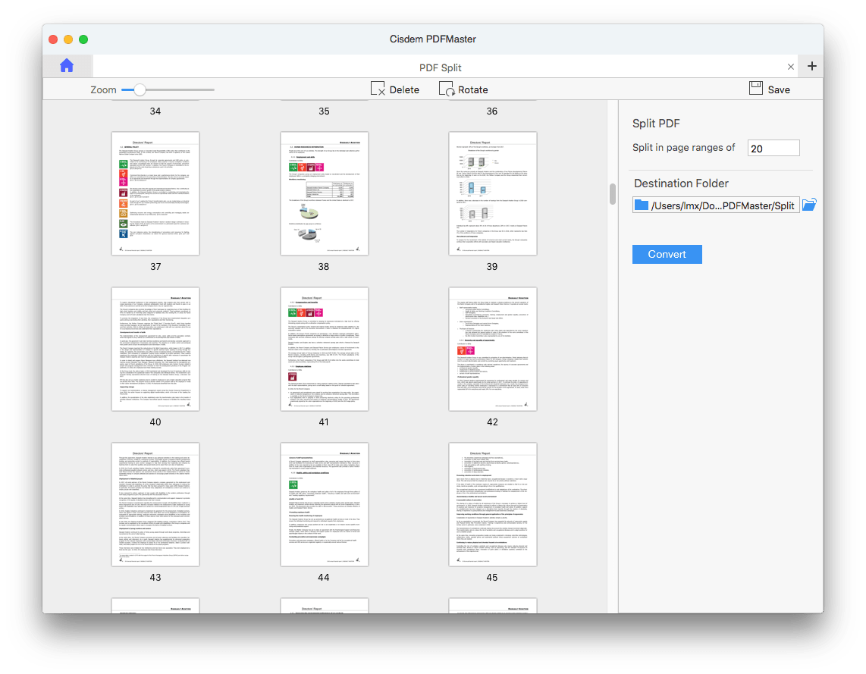 split pages on mac