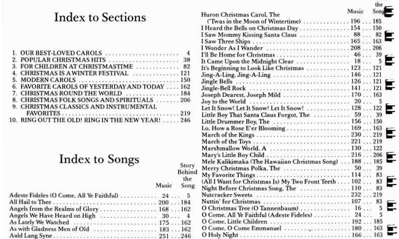 image about Christmas Carol Songbook Printable titled 50 Distinguished Xmas Piano Sheet Tunes PDF for Free of charge Print