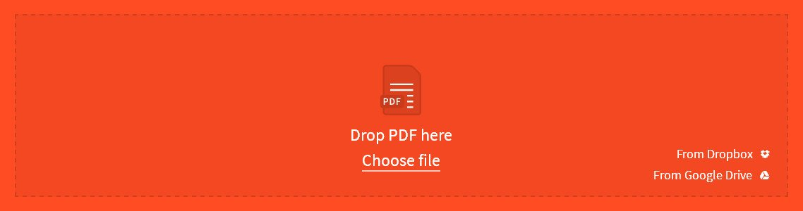 Shrink PDF on Mac with Smallpdf Step 1