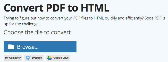 convert pdf to html online