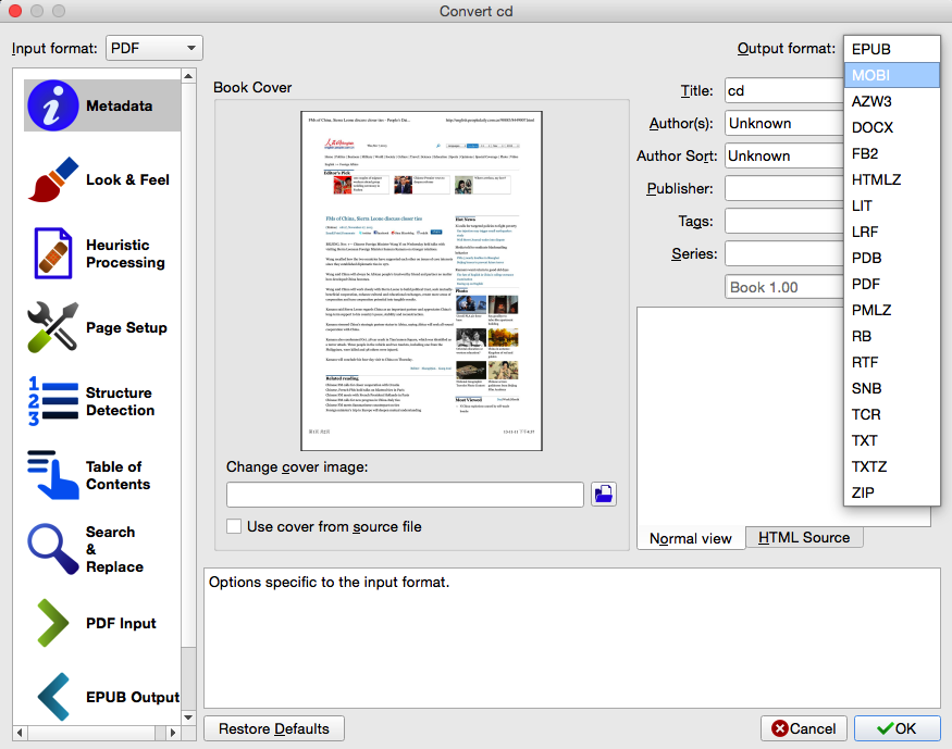 How to Convert PDF to MOBI on Mac for Better Reading?
