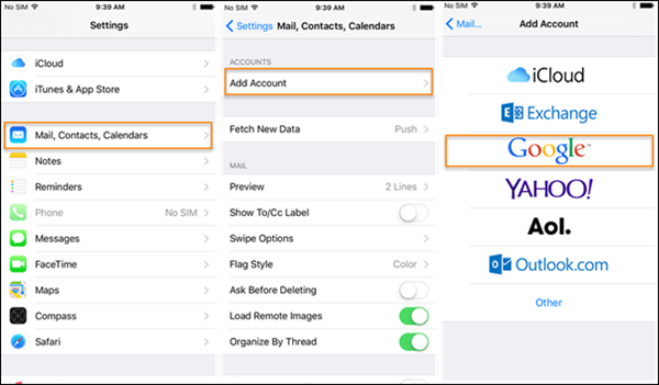 sync iphone contacts to gmail how to sync contacts to gmail for backup 4728