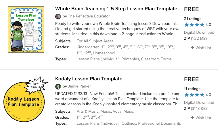 teacherspayteachers lesson plan template