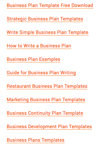 business plan format download