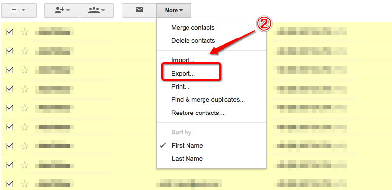 Export Gmail Contacts from Original Email Account Step 2