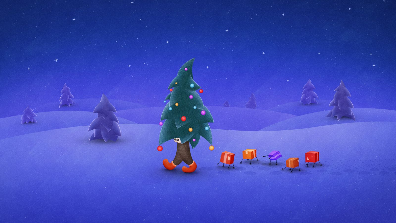 traveling Christmas tree wallpaper for mac