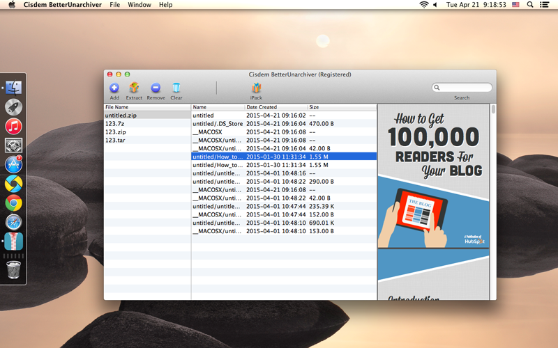 How to Open Zip Files on Mac