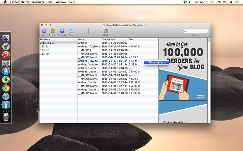 zip file opener for macbook