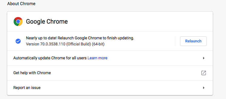 Update Your Browser on Chrome