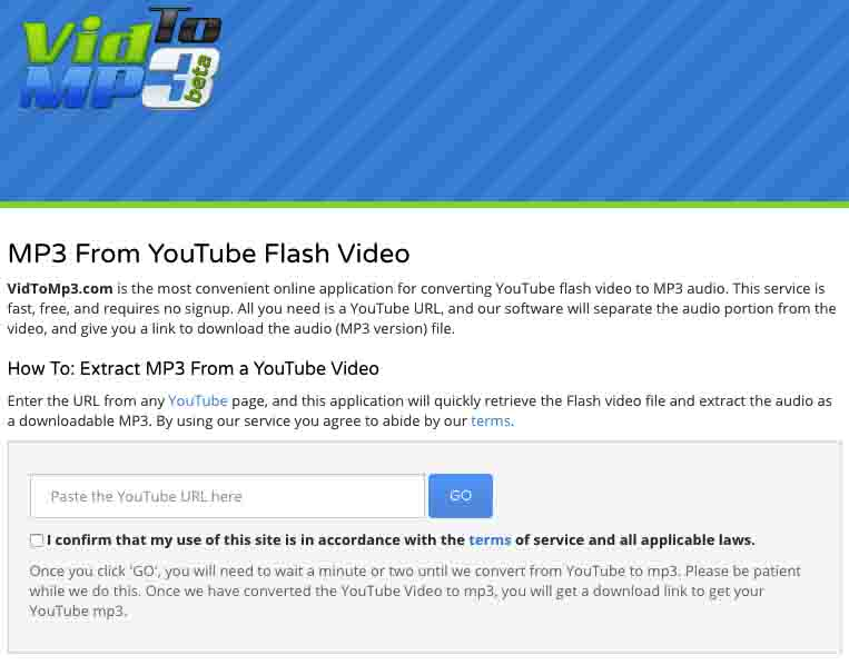 online YouTubeInMP3 alternative 4