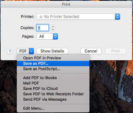 How to Save WebPage as PDF on Mac with Safari, Chrome