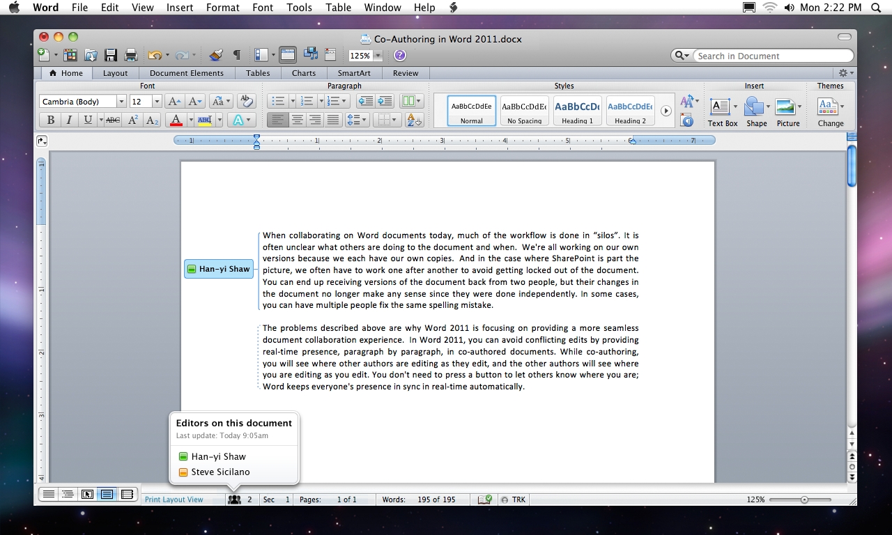 Microsoft Word Mac