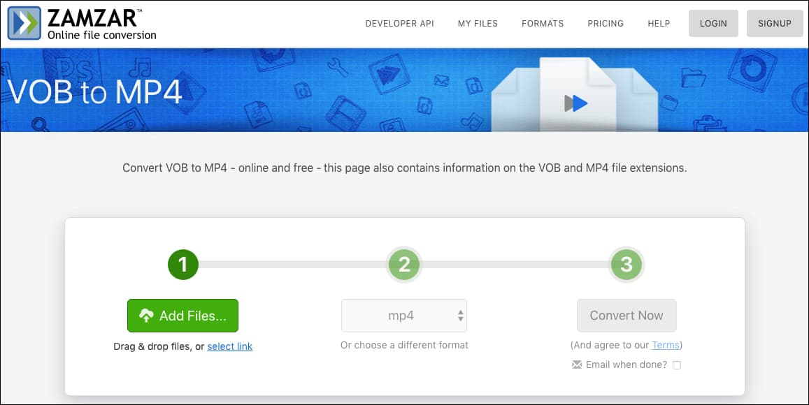 convert vob to mp4 mac free no watermark